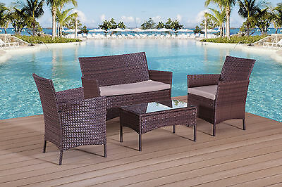 Rattan Garden Furniture Set Sofa Table And Chairs Patio Conservatory Outdoor
