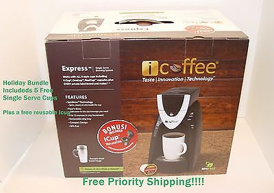New Remington iCoffee Express 1-Cup Single Serve K-Cup Coffee Maker Bundle