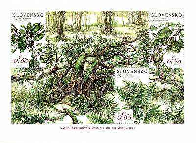 Slovakia 2016 MNH Nature Reserve 3v M/S Plants Trees Stamps