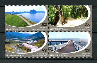 South Korea 2016 MNH Must Visit Tourist Destinations 4v Block Bridges Stamps