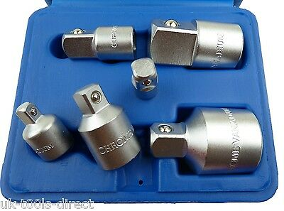 "6pc Socket Convertor Adaptor Adapter Reducer Set 1/4 3/8 1/2 3/4"" Up & Down"