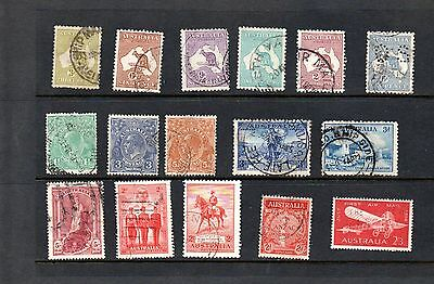 Australia - mixed of used postage stamps
