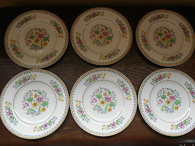 John Maddock & Sons 6 side plates Floral very pretty VGC
