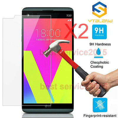 2Pcs 9H+ Premium Tempered Glass Film Screen Protector For LG V20
