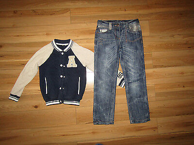 Next, baseball jacket and jeans set for girl 7-8 years.