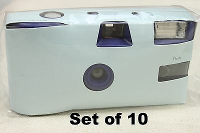 Disposable Baby Blue Wedding Camera 10 Pack Weddings Parties Party Single Use