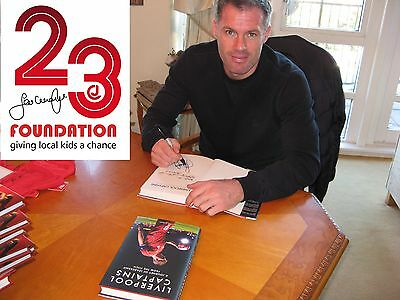 Liverpool Captains Book Signed By Jamie Carragher Fantastic New Legends Book