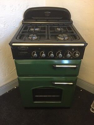 Dual Fuel Green And Black Leisure Cooker 55cm Wide With Warranty