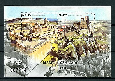 Malta 2016 MNH JIS Joint Issue San Marino 2v M/S Architecture Stamps