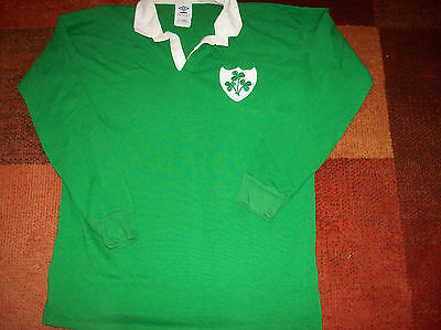 1991 1992 Ireland L/s Rugby Union Shirt Adults XL Jersey
