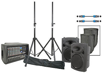 Phx300 + 2 X Qr10 Complete Pa Speaker & Amplifier Package System 301.107
