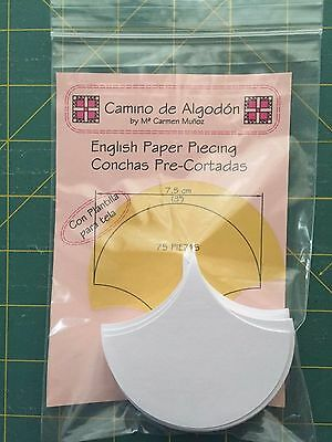 English Paper Piecing Conchas 7,5 cm (3'')