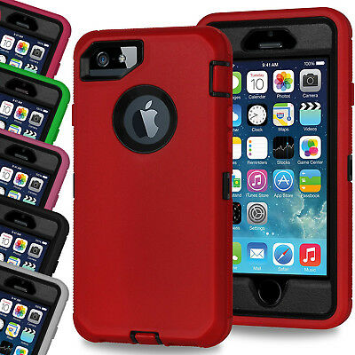 For iPhone 8 7 Case Shock Proof Builders Workman Cover Built In Screen Protector