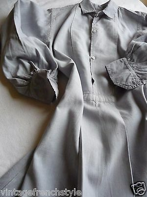 "Antique French Linen Nightshirt Chemise Linen Smock Antique Linen""soft Grey"""