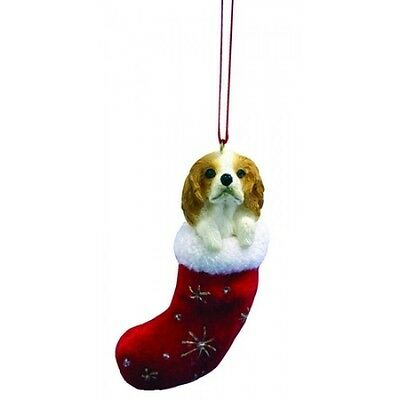 Cavalier King Charles Red Santa's Little Pals Dog Christmas Ornament