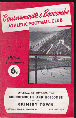 1964/65 BOURNEMOUTH V GRIMSBY TOWN 05-09-1964 Division 3