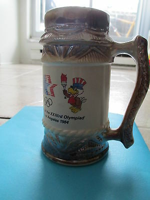 Los Angeles 1984 Summer Olympics Games Sam Eagle Mascot Brown Beer Buck Mug Cup
