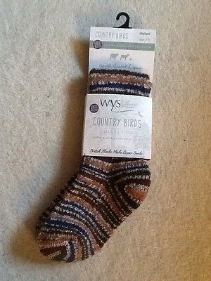 SOCKS Wool Size 3-5 WYS Luxury 100% Bluefaced Leicester WOOL NEW