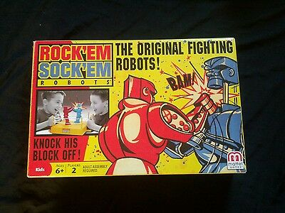 Rock 'em Sock 'em Boxing/Fighting Robots Game The Classic Game By Mattel