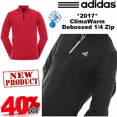 Adidas Golf Jumper Climawarm® Debossed 1/4 Zip Thermal Golf Jumper / Pullover