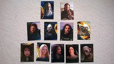 Lord Of The Rings 11 Cards Mixed Lot