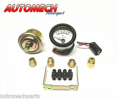 Tim, Electric OIl Pressure Gauge Kit 52mm with Various Fittings (700031)