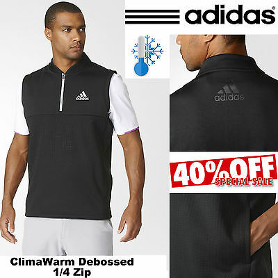 Adidas Golf Jumper Climawarm® Debossed 1/4 Zip Thermal Golf Slipover / Pullover