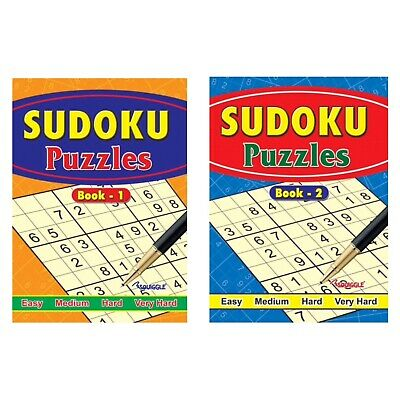 2 X Large Print Sudoku Puzzle Books Book 234  Puzzles A4 Pages Fun Trivia Uk