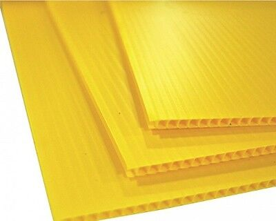 "25 pcs Corrugated Plastic 24"" x 18"" 4mm Yellow Blank Sign Sheets Horizontal*"
