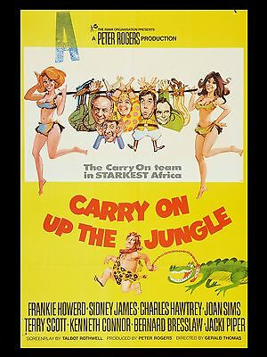 """Carry on up the Jungle 16"""" x 12"""" Reproduction Movie Poster Photograph"""