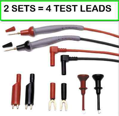 ( 2 PACK SET )  Probe Master 8043S DMM Test Leads