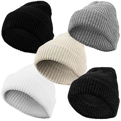 URBAN CLASSICS SAILOR BEANIE TB1283 NEU Winter Strick Mütze Fisher Man Knit Flap