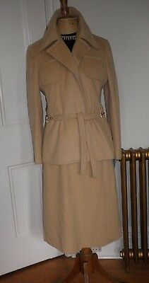 Vintage 1970s Real Camel  wool  Suit size 10/12