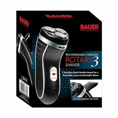 Bauer Rotary 3 Smooth Action Cordless Rechargable Electric Razor Shaver