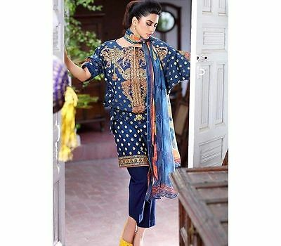 New Ladies Designer Gull AHMED 3 Piece suit Unstitched Pakistani Asian