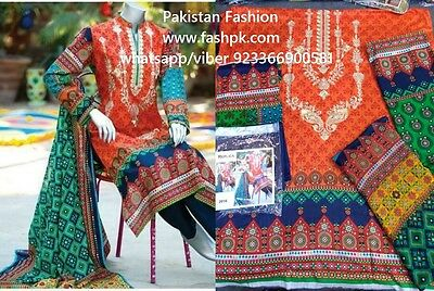 New Ladies Designer junaid jamshad 3 Piece suit Unstitched Pakistani Asian