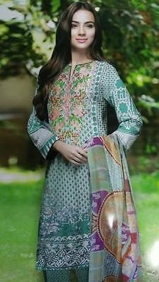 New Ladies Designer S.N 3 Piece suit Unstitched Pakistani Asian