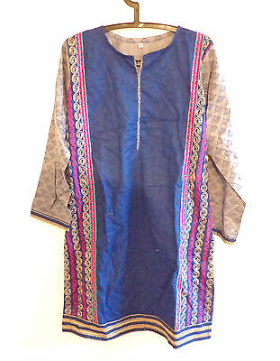 Ladies Desinger  Embroidered Printed Kurta Kameez Shirt Top Asian Pakistani