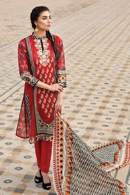 New Ladies Designer KHAADI 3 Piece suit Unstitched Pakistani Asian