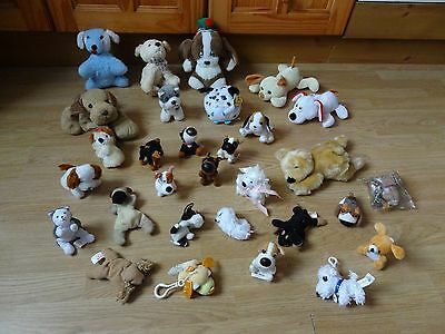 Bundle Of 30 Small Plush DOGS Soft Toys 8.5 inches High max
