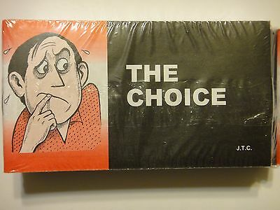 """""""The Choice"""" Christian Chick Tract booklet (1 tract + 1 Random tract )"""