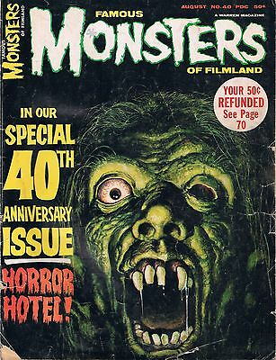 Famous Monsters of Filmland Special 40th Anniversary Magazine Issue- August 1966