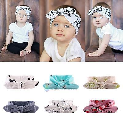 6 PCS Kids Girls Baby Headband Toddler Bow Flower Hair Band Accessories Headwear