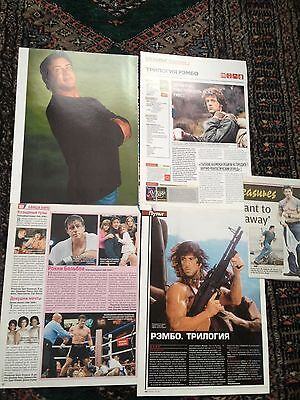 Sylvester Stallone clippings from magazines Rambo, Rocky, Cobra