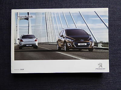 Peugeot 308 Mk1 Handbook Owners Manual 2011-2013 Print 2012 Facelift