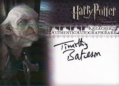 Harry Potter Order of the Pheonix Update Timothy Bateson as Kreacher Auto Card