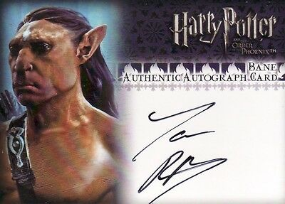 Harry Potter Order of the Phoenix Update Jason Piper as Bane Auto Card