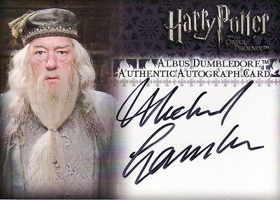 Harry Potter Order of the Pheonix Michael Gambon as Albus Dumbledore Auto Card