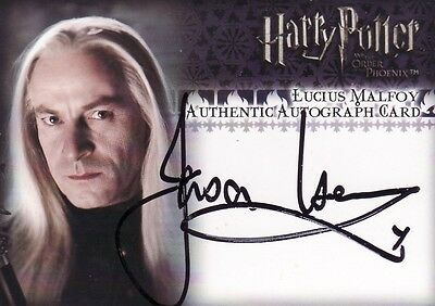 Harry Potter Order of the Pheonix Jason Isaacs as Lucius Malfoy Auto Card