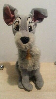 """Disney lady and the tramp, tramp plushie Soft Toy Rare 12.5 """""""